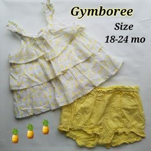 Gymboree pineapples play dress set Size 18-24 mo